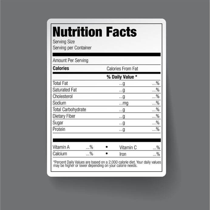 nutrition facts flax