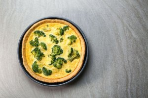 Dr. Gundry's Satisfying Broccoli Cheddar Quiche (lectin-free recipe)