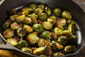 brusselsbrussels sprouts on cast iron | Gundry MD-sprouts-cast-iron
