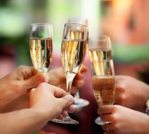 toasting with champagne | Gundry MD