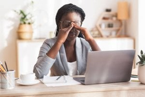 woman with eye strain | Gundry MD