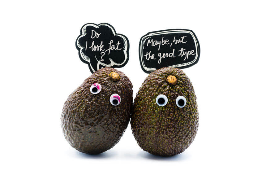 cute avocado graphic about good fat