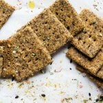 Almond-Flax Crackers With Za'atar Spices Recipe